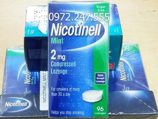Kẹo ngậm cai thuốc lá Nicotinell