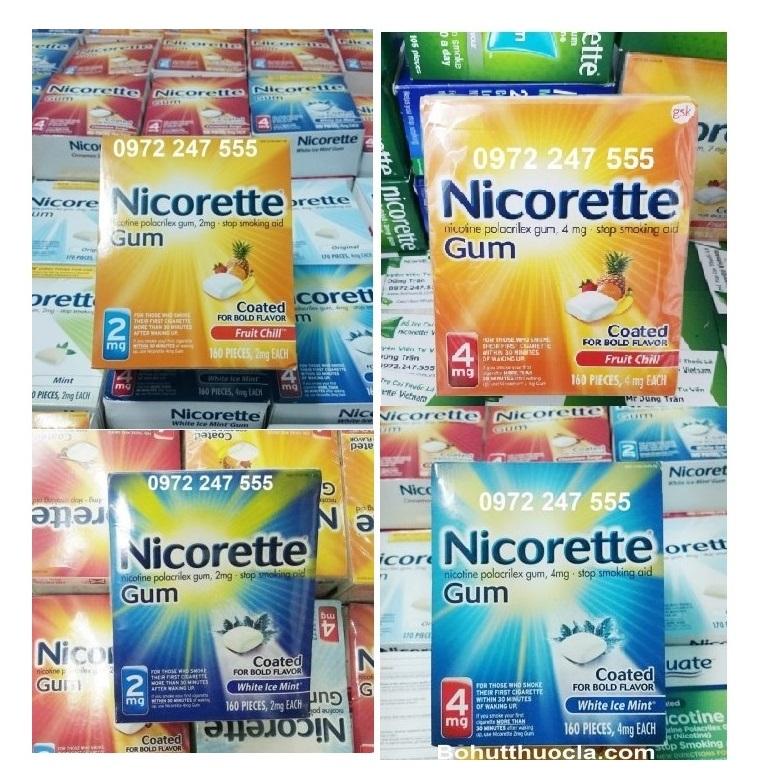 Kẹo Nicorette cai thuốc lá nhanh hơn
